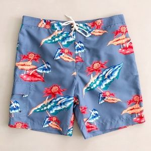 Chaps Men's Floral Tropical Swim Trunks Shorts XL